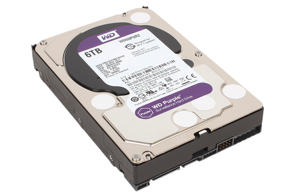 Жесткий диск HDD WD SATA3 6Tb Purple Video IntelliPower 64Mb (WD60PURZ)